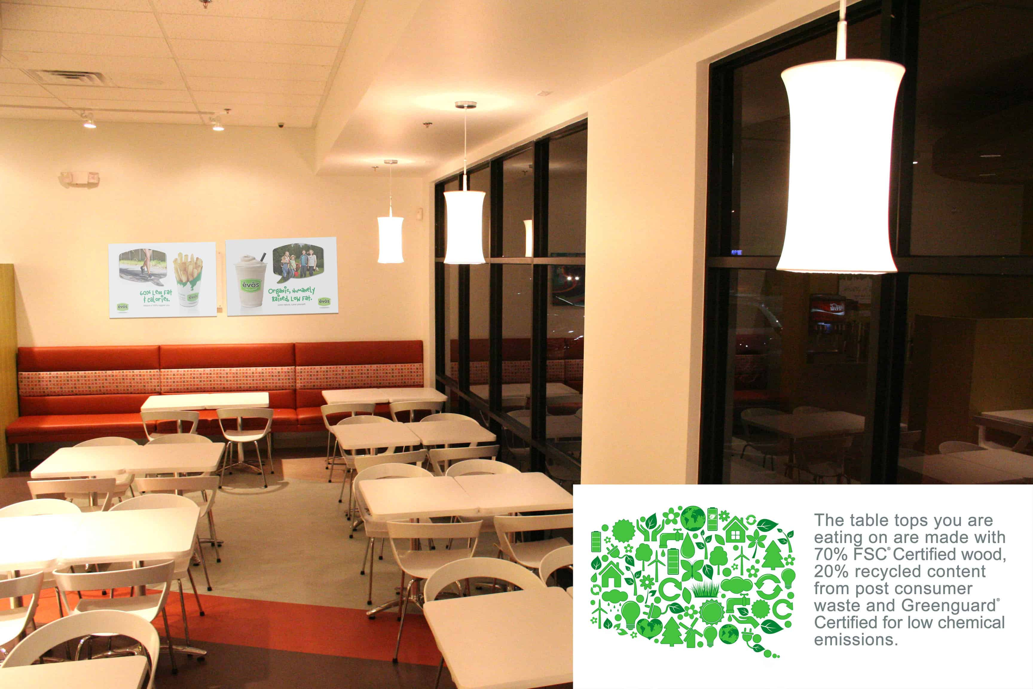 EVOS Sustainable Tabletops
