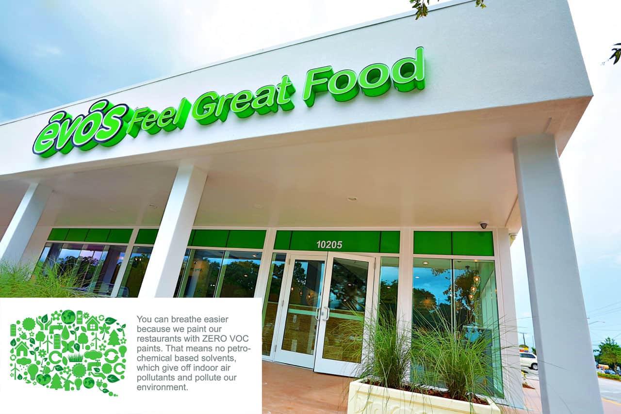 EVOS storefront | Sustainable Organic Restaurant