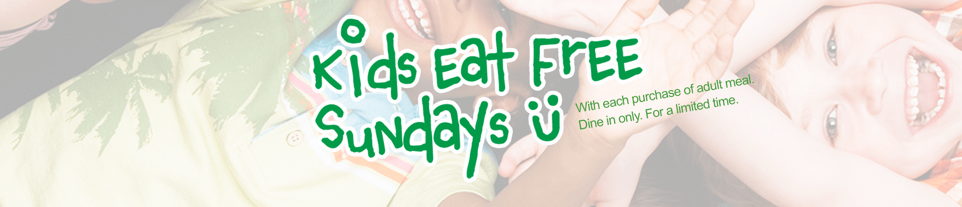 Kids Eat Free EVOS promotion