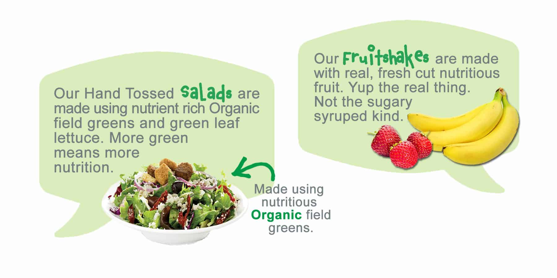 Organic Field Greens Salads_EVOS Difference | EVOS Feel Great Food
