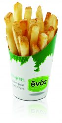 EVOS Airfries. Low calorie fast food.