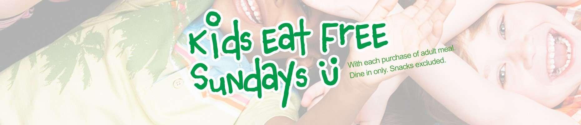 Kids Eat Free Sundays Snacks Excluded | EVOS Feel Great Food