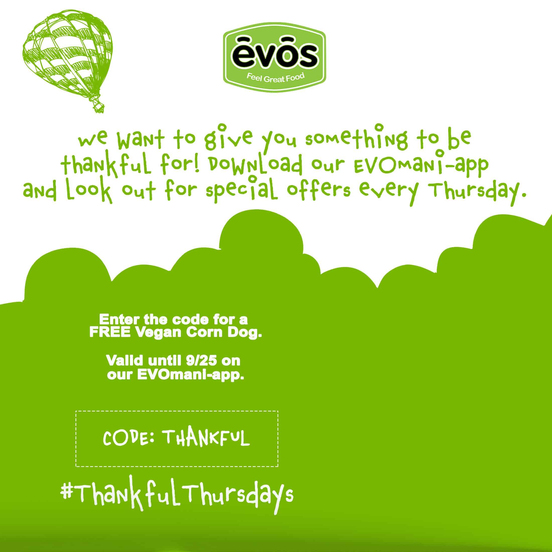 EVOS Popup Thankful Thursdays